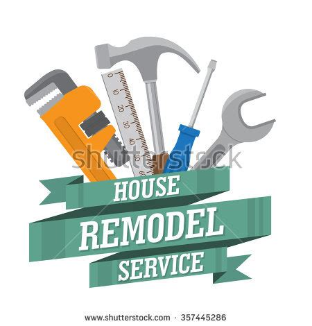 Free Home Remodeling Design Tools by House Remodel Tools Home Repair Service Stock Vector