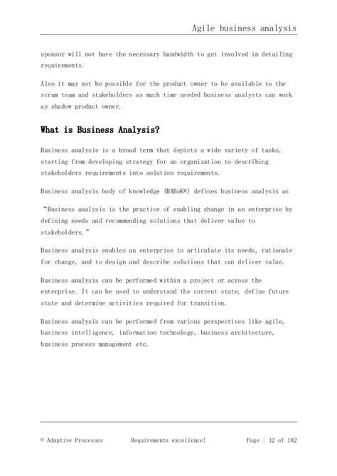 sle business analysis business intelligence resume