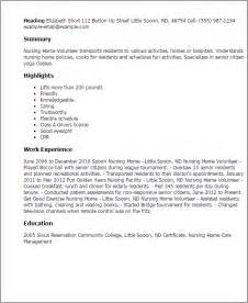 volunteer description on resume professional nursing home volunteer templates to showcase your talent myperfectresume
