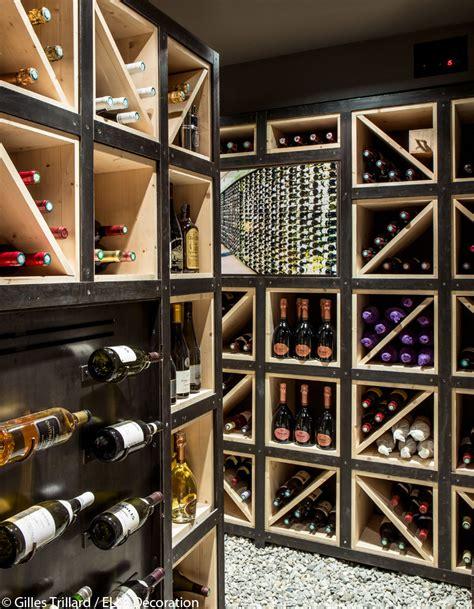 cave a vin de cuisine un chalet typique mais ultra design décoration