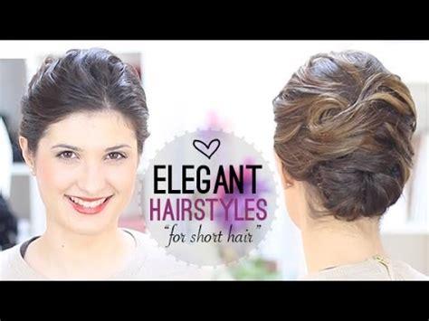elegant hairstyle for short hair youtube