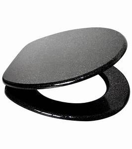 Wc Sitz Schwarz : wc sitz mit absenkautomatik glitzer schwarz ~ Watch28wear.com Haus und Dekorationen
