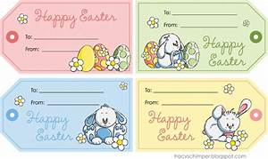 easter labels templates easter bunny name tags happy With easter name tags template