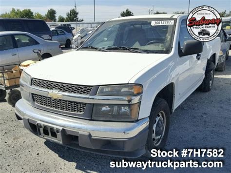 Chevrolet Colorado Parts by Used Parts 2007 Chevrolet Colorado 2 9l 4x2 Subway Truck