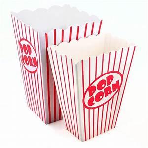Retro Popcorn Boxes in 2 Sizes - Pipii
