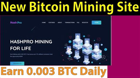 We added the most popular currencies and cryptocurrencies for our calculator. New Free Bitcoin Mining Site - 0.002 BTC Sign Up Bonus - Earn 0.003 BTC Daily - Hashpro - 24/7 ...