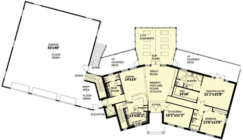house plans with rv garage attached ranch home with rv garage 35423gh architectural