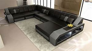 U Sofa Xxl : design sectional sofa matera xxl with led lights black ~ A.2002-acura-tl-radio.info Haus und Dekorationen