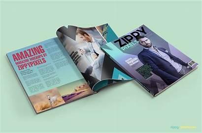 Mockup Magazine Psd Mockups Ad Magazines Zippypixels