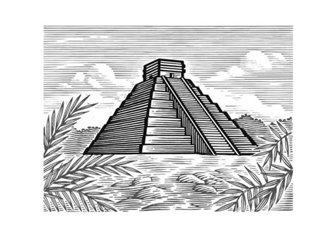 steven noble illustrations mayan pyramid
