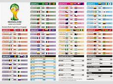 Almanaque del Mundial Brasil 2014 Todo el Calendario