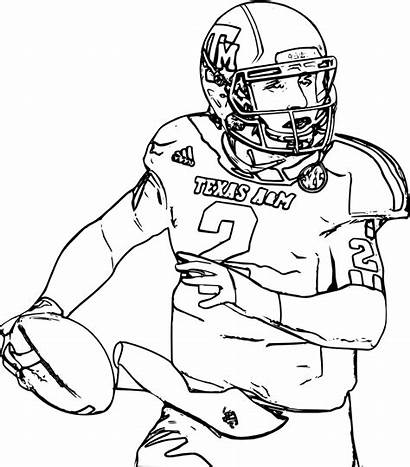 Coloring Football Pages Logos College Printable Sports