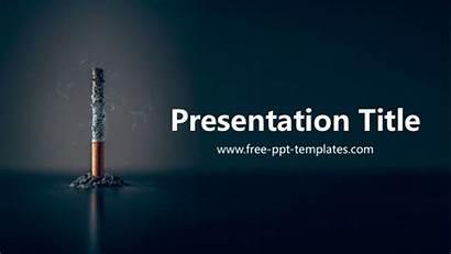 Templates Powerpoint Ppt Smoking Presentation Cigarette Template