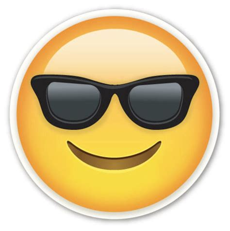 framed emoji print smiling  sunglasses face picture