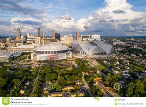 441 martin luther king jr dr nw, atlanta, ga 30313. Aerial Image Mercedes Benz Arena Downtown Atlanta Editorial Stock Image - Image of atlanta ...