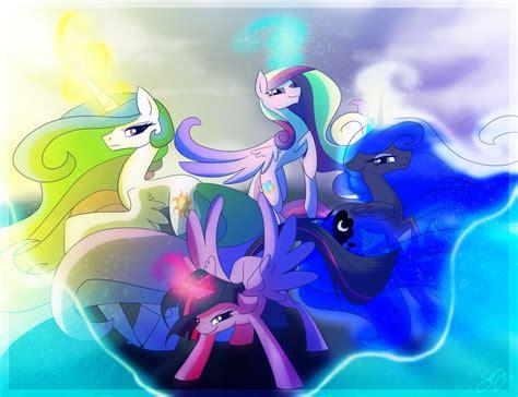 pony princesses pretty magic friendship equestria mlp princess twilight four celestia deviantart fan famosity background fanpop throne hd club chapter