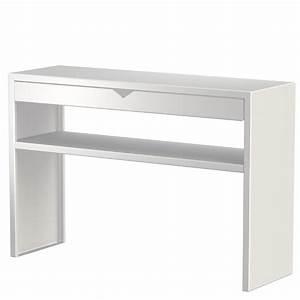 Etagere A Tiroir : console avec tiroir et tag re spirix blanc 110x35cm zhed absolument design ~ Teatrodelosmanantiales.com Idées de Décoration