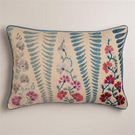 coral lumbar pillow blue and coral lumbar pillow world market