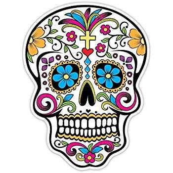 Amazon com: Day of the Dead Decal Rockabilly Rock Vintage