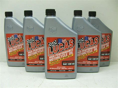 Lucas Semi-synthetic 10w40 High Performance Motorcycle Oil