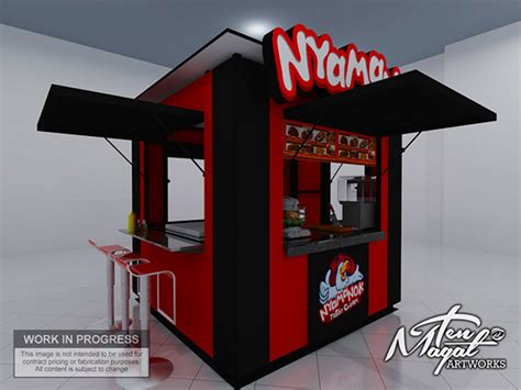 Outdoor Kiosk Design Nyamanok On Behance
