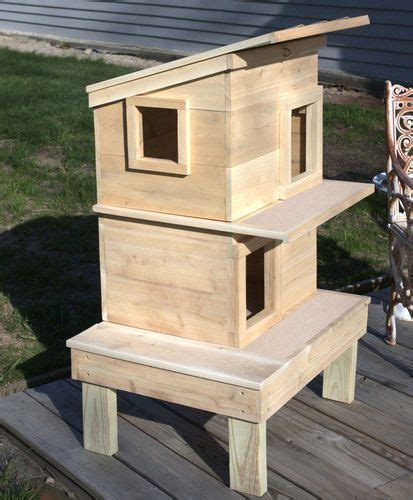cat house plans ideas  pinterest outdoor