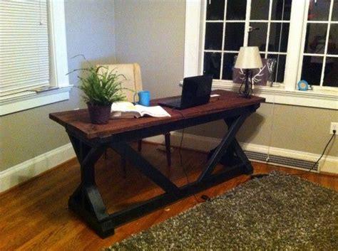 diy rustic office desk rustic desk diy plans office tutorials pinterest