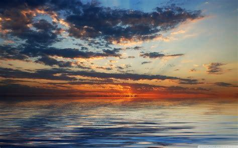 ocean clouds  hd desktop wallpaper  dual monitor