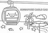 Cable Coloring Template Sketch Sand sketch template