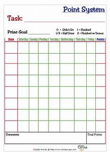 Point System Chart Printable