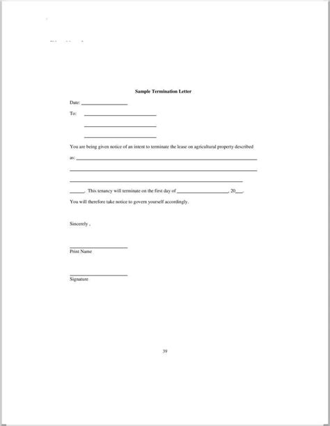 termination letters   word  excel