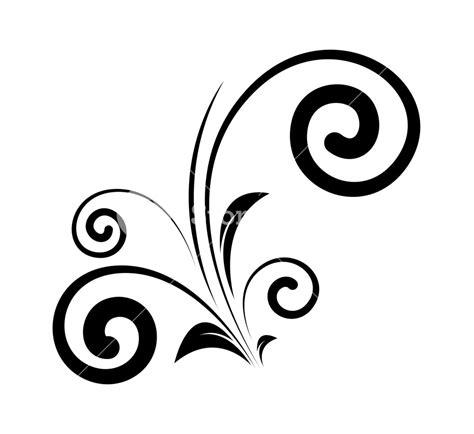 Decorative Swirls - decorative swirl floral elements silhouette royalty free