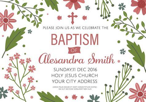 Baptism Invitation Template Vector Download Free Vectors