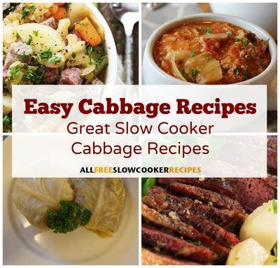 great cooker recipes easy cabbage recipes 12 great slow cooker cabbage recipes allfreeslowcookerrecipes com