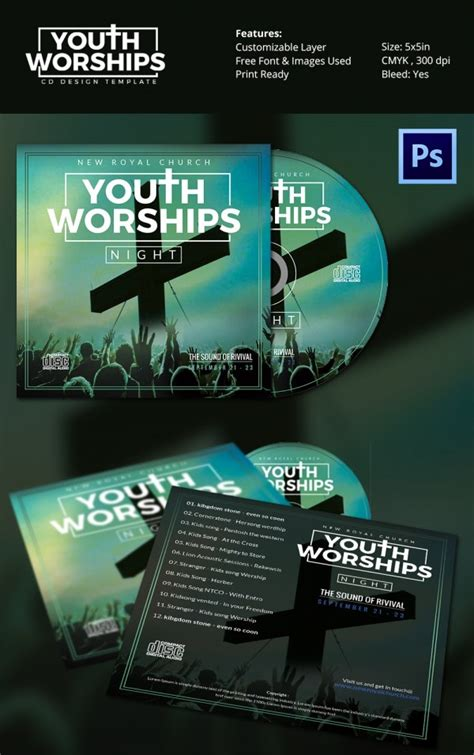 cd cover template   psd eps word format