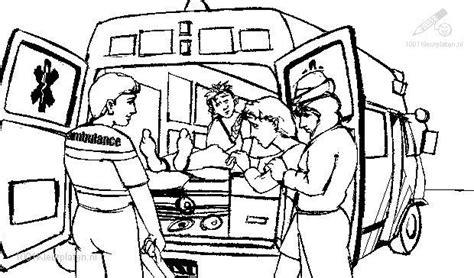 Kleurplaat Ziekenauto by Ambulance Coloring Page