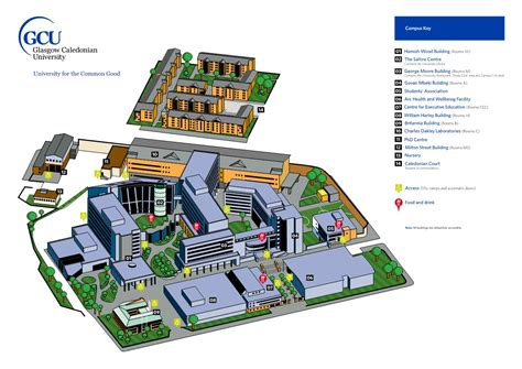 campus map glasgow caledonian university scotland uk