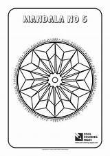 Coloring Pages Cool Mandala Mandalas Adults Geometric Activities Children sketch template