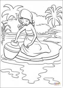 indian girl coloring page  printable coloring pages