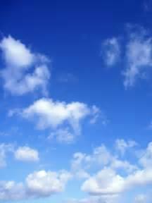 Blue Sky Fluffy Clouds