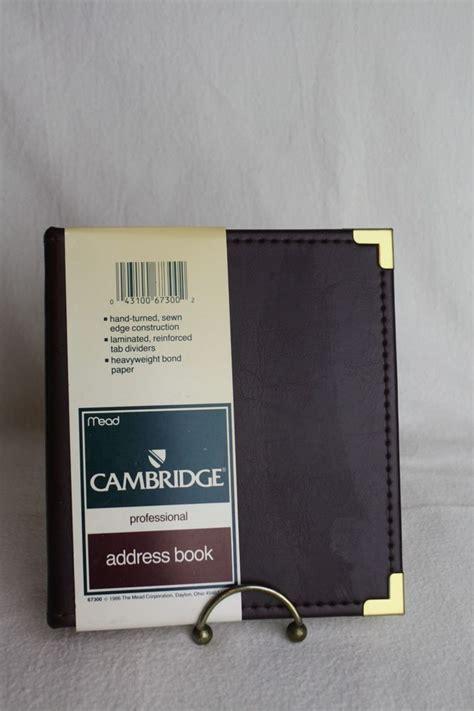 cambridge professional address book leather burgundy