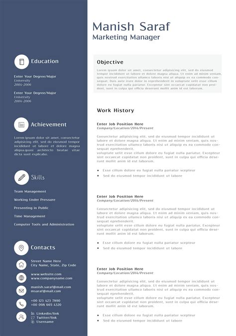 marketing resume templates berathen