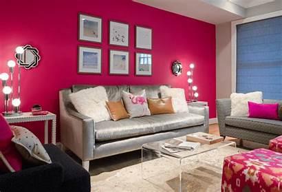 Pink Living Gray Wall Rug Pastel Plant