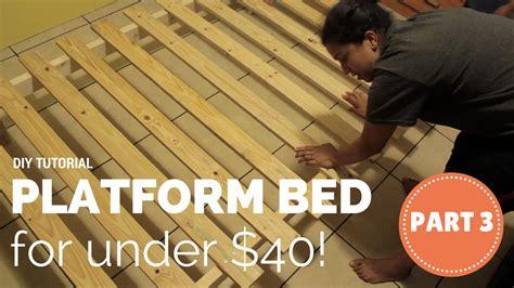 build  platform bed   part    youtube