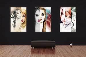 Cadre Photo Lumineux : cadre photo textile lumineux mur d images cadre alu ~ Teatrodelosmanantiales.com Idées de Décoration
