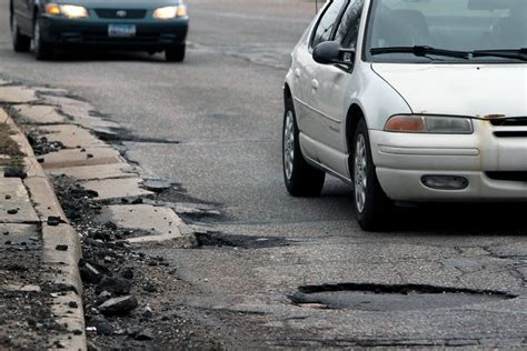 Expect Little Help To Pay For Cars Damaged By Potholes