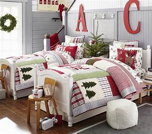 rustic christmas decorating ideas canadian log homes With christmas sheets pottery barn