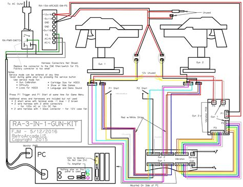Arcade Wiring Diagram by Best Way To Play Namco Point Blank Mame Addicts