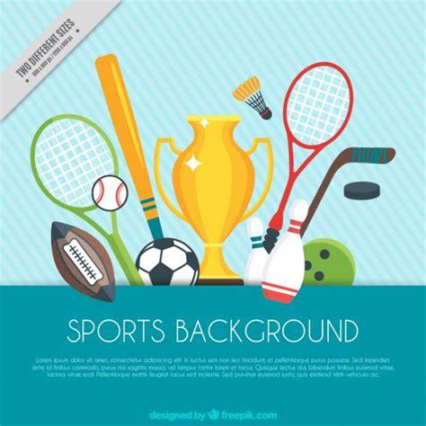 Sports Day Poster Template by Sport Achtergrond Met Trofee En Sport Elementen Vector