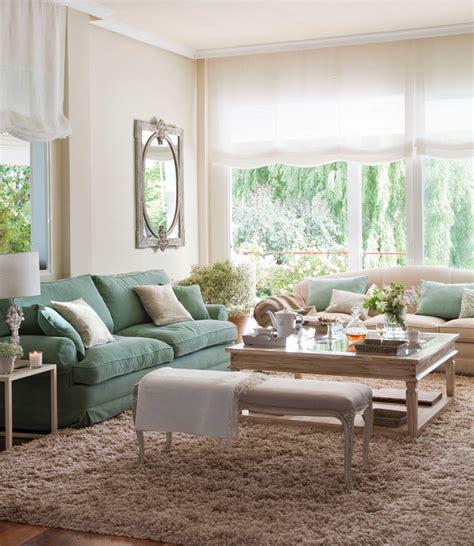 sofa color verde agua 15 salones con el toque justo de color